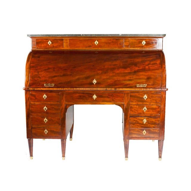 19th Century Louis XVI Cylinder Bureau For Sale - Image 13 of 13