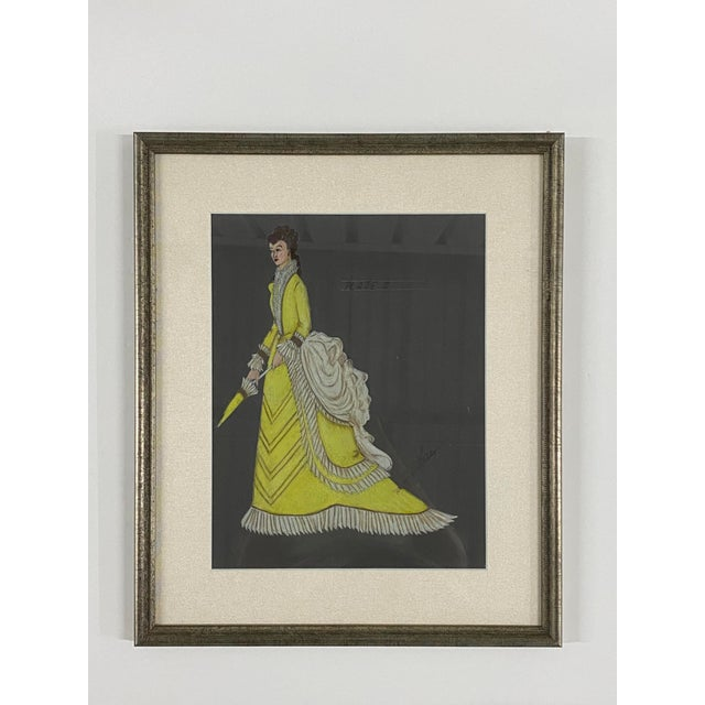 Illustration Original Framed Theater Costume Sketches by Autry - Set of 16 For Sale - Image 3 of 13