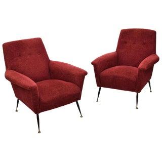 Italian Mid-Century Modern Armchairs - a Pair