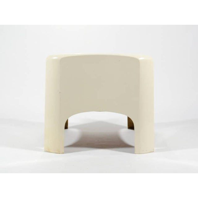 "White Carlo Bartoli ""Gaia"" Lounge Chair by Arflex For Sale - Image 8 of 9"