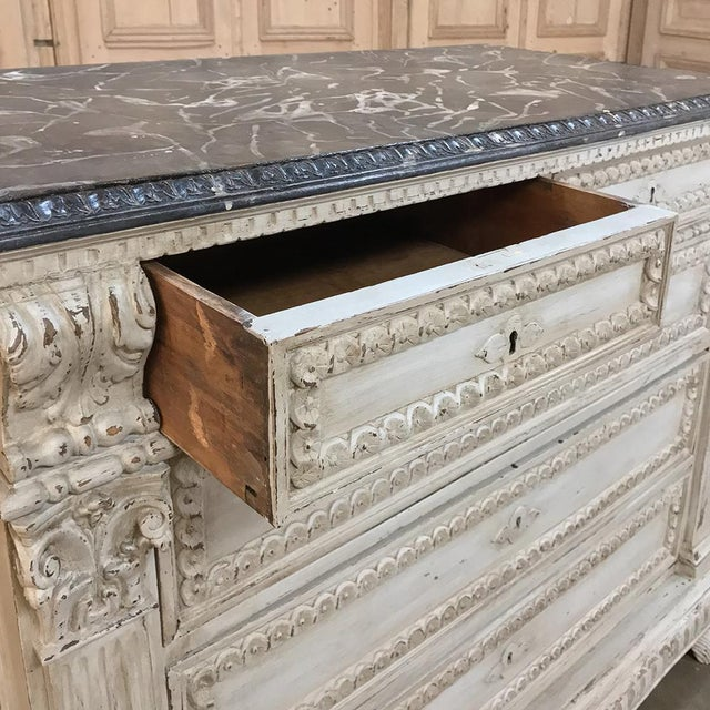 19th Century Italian Neoclassical Painted Commode For Sale - Image 9 of 12