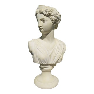 Vintage Female Bust of Artemis For Sale