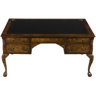 1960s Queen Anne Restored Ball and Claw Foot Writing Desk
