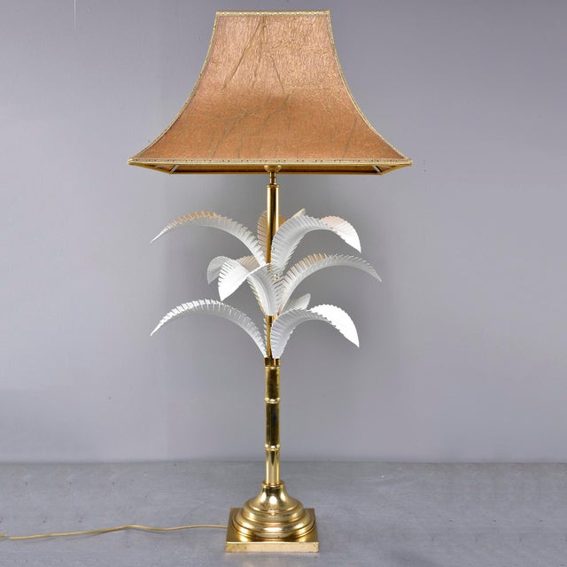 Hollywood Regency 1970s Hollywood Regency Brass Lamp With Parchment Shade For Sale - Image 3 of 11