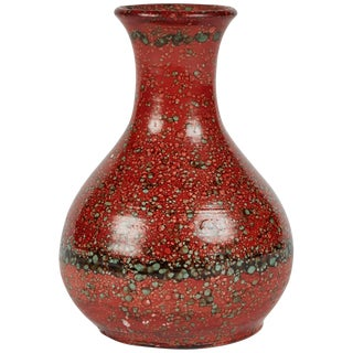 Mid-Century Spattered Glazed Vase From England For Sale