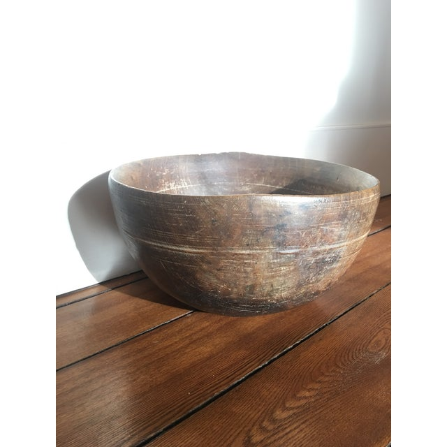 Wood 19th Century Antique Burl Wood Bowl For Sale - Image 7 of 7