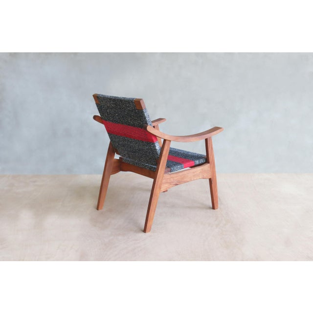 Handwoven Granito & Red Stripe Chair - Image 5 of 6