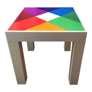 1970's Pop Art Iconic Max Bill Prism Design Table For Sale