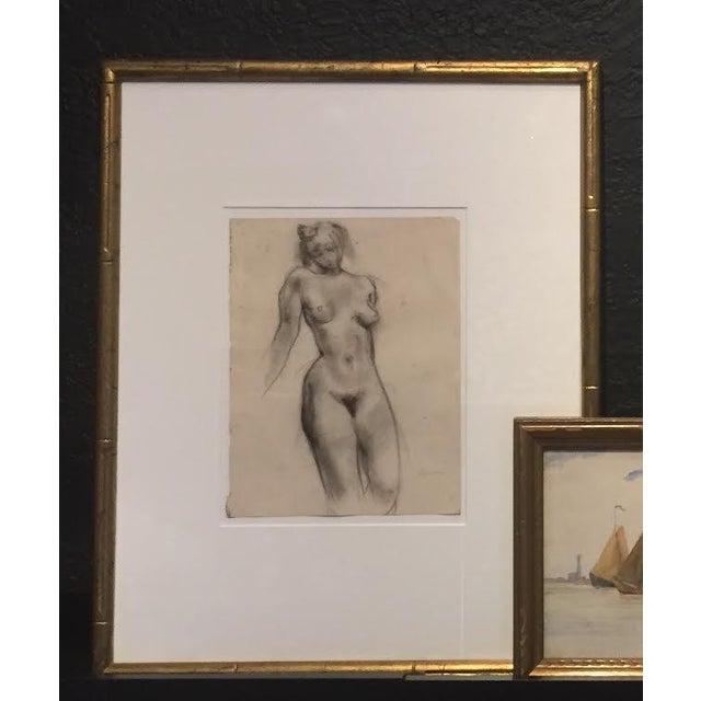 Figurative 1930s Female Nude Figure Study Bay Area Artist For Sale - Image 3 of 3