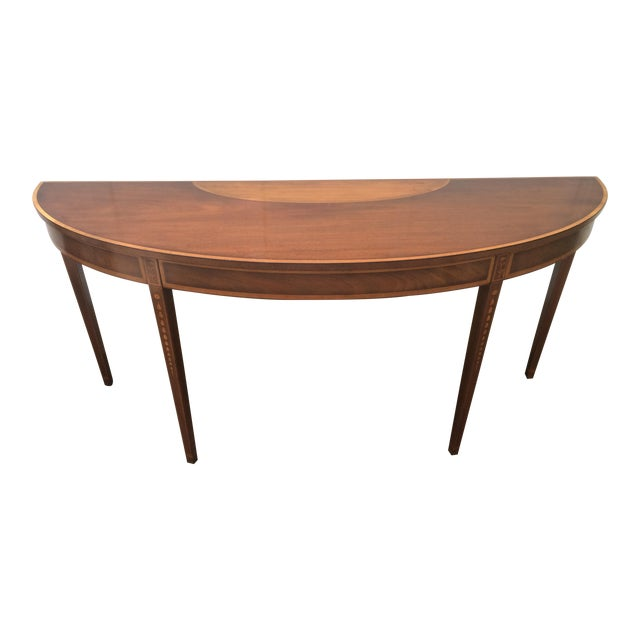 Kittinger Mid-Century Demilune Console Table - Image 1 of 11