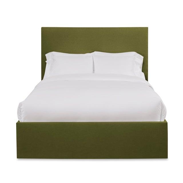 Casa Cosima Hadley Full/Double Bedframe, Olive Velvet For Sale - Image 4 of 4
