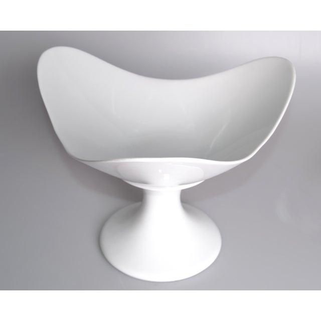 Mid-Century Modern White Porcelain Rosenthal Fruit Bowl For Sale - Image 3 of 9