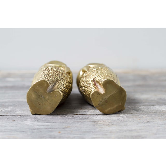 Brass Plated Owl Figurines - A Pair - Image 5 of 7