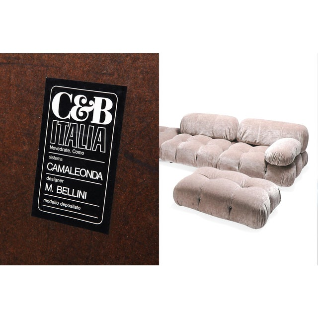 Mario Bellini Nude Colored Modular Sofa by Mario Bellini 'Camaleonda' For Sale - Image 4 of 5