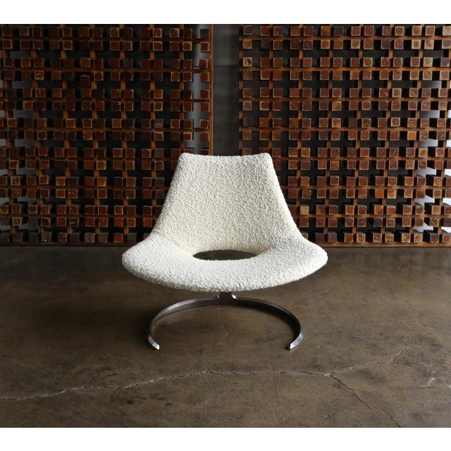 Preben Fabricius & Jørgen Kastholm Scimitar Chairs by Ivan Schlechter in Denmark. circa 1965. This piece has been expertly...