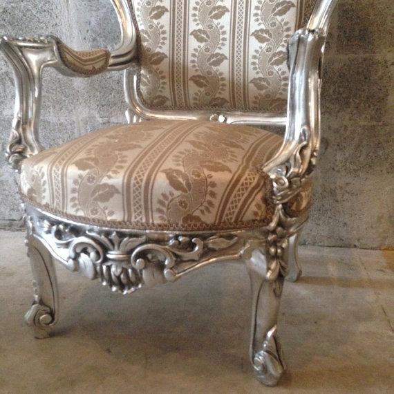 Italian Baroque Chairs in Gold Leaf - Pair - Image 4 of 5