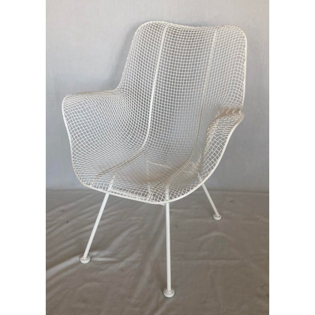 1960s Vintage White Sculptura Russell Woodard Patio Chairs- A Pair For Sale In West Palm - Image 6 of 13