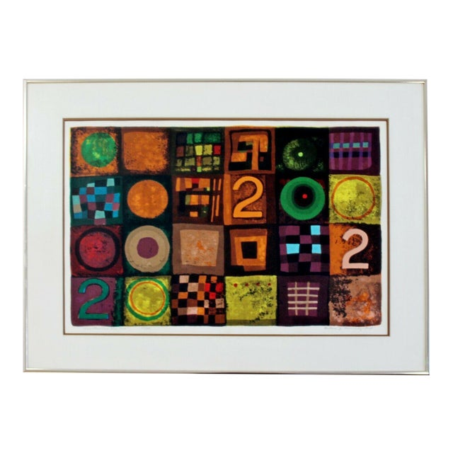 Contemporary Modern Framed Lithograph Signed Barbara Oldsheusky 181/300 For Sale