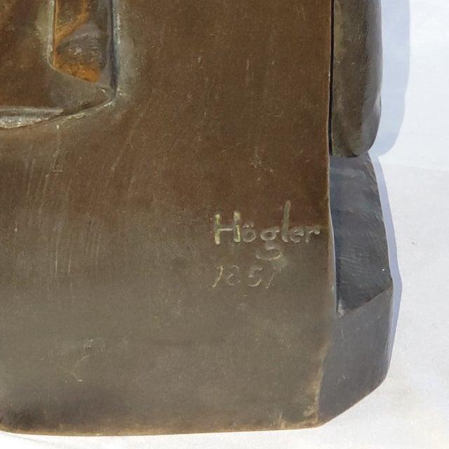 Metal Franz Hogler, German Sculptor, Bronze Statue, Signed 1851 For Sale - Image 7 of 10