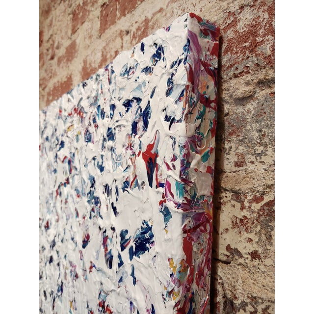 Canvas Ellie Riley Contemporary Abstract in White Acrylic Painting For Sale - Image 7 of 10