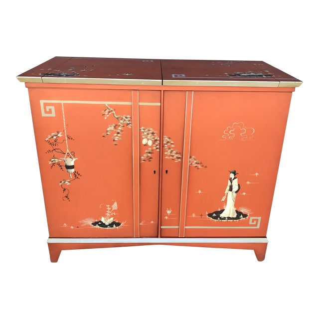 Vintage Chinoiserie Bar Cabinet - Image 1 of 11