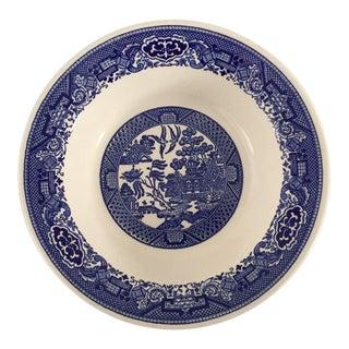 Vintage Blue Willow Serving Bowl