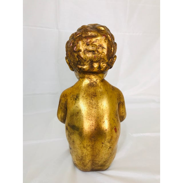 1960s Vintage Venetian Style Chalkware Child Figurine For Sale - Image 4 of 10