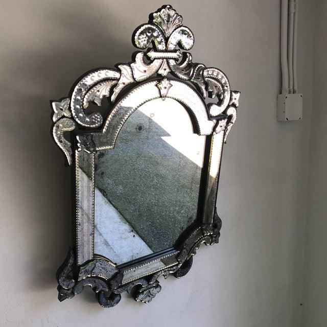 Murano Style Cut Glass Mirror - Image 4 of 8