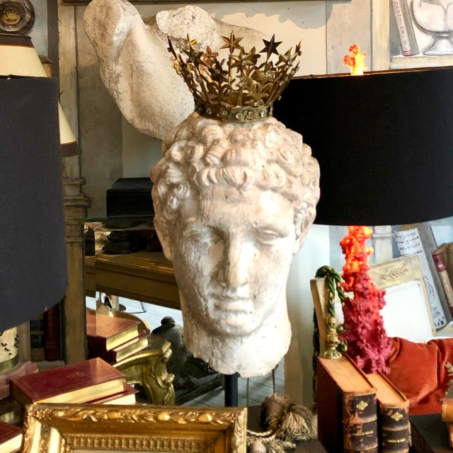 1930s Greek Mid-Century Head of the God Hermes Sculpture For Sale - Image 4 of 13