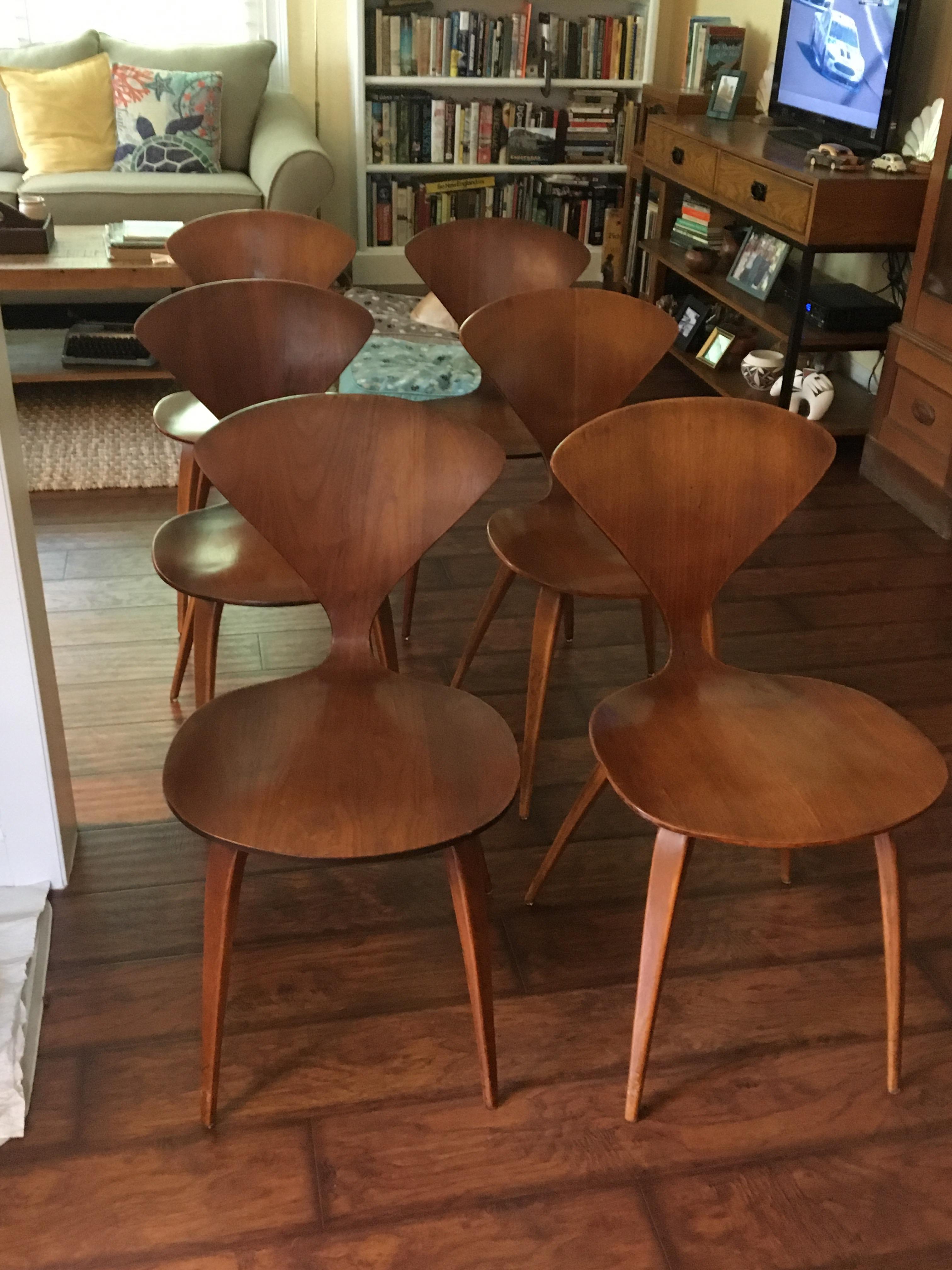 Mid Century Modern Norman Cherner For Plycraft Chairs   Set Of 6   Image 2