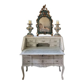 19th C Louis XV Slant top Secretary For Sale