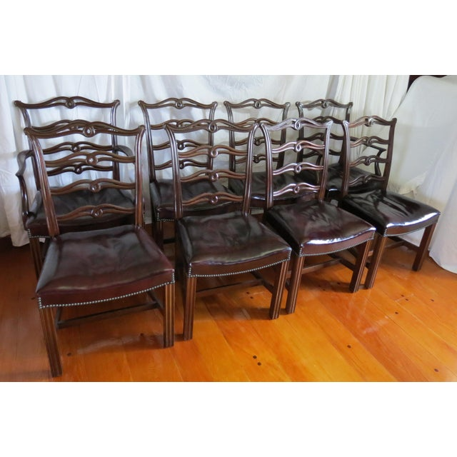 Chippendale Ribbon Back Dining Chairs - Set of 8 For Sale - Image 13 of 13