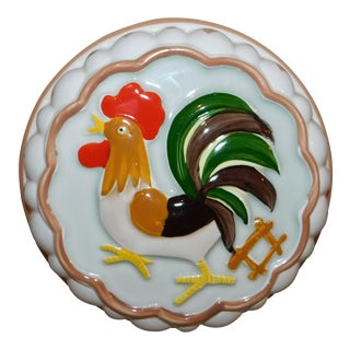 Vintage Ceramic Rooster Mold For Sale