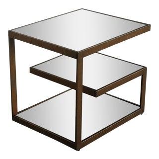 Bronze Metal 3 Tier Side Table