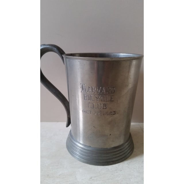 Mid 19th Century Harvard 1883 Bicycle Club Horses & Hounds Pewter Tankard/Mug For Sale - Image 5 of 9