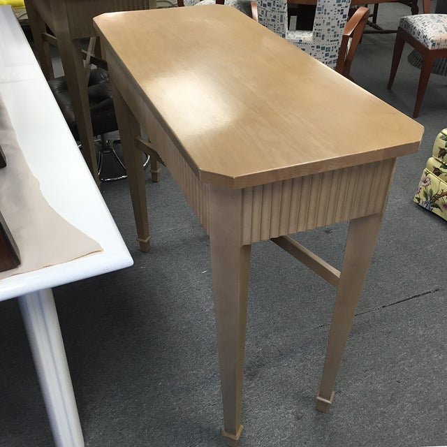 Nancy Corzine Tan Fluted Console Table - Image 6 of 11