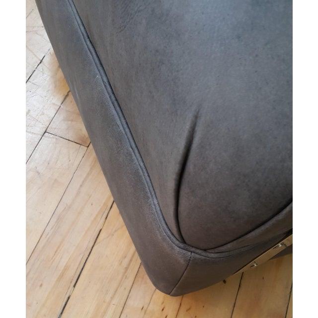 Bernhardt Markham Gray Upholstered Club Chair For Sale In New York - Image 6 of 8