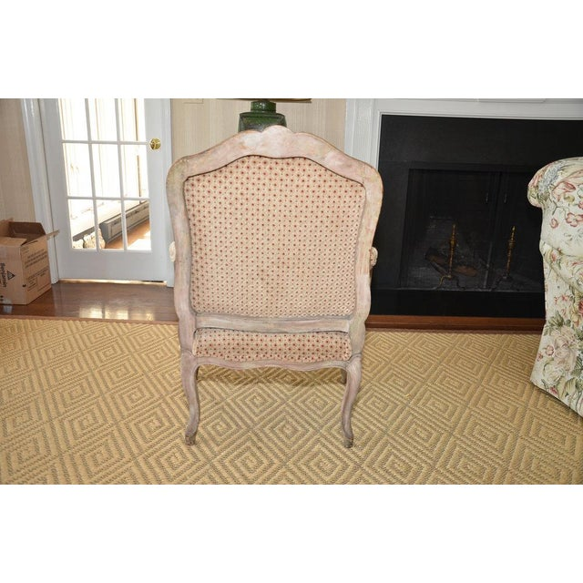 French Upholstered Bergere Chairs- A Pair - Image 9 of 10