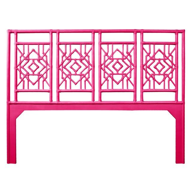 Coastal Tulum Headboard King - Bright Pink For Sale - Image 3 of 3