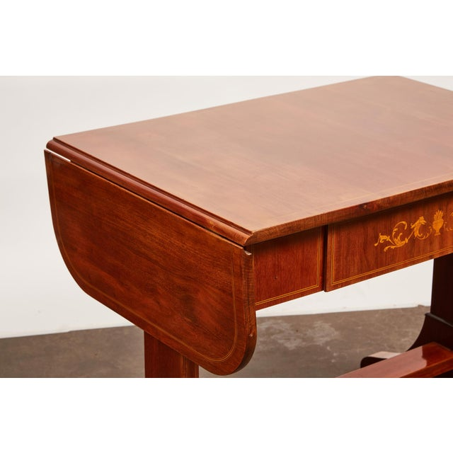 Brown 19th Century Danish Empire Mahogany Salon Table For Sale - Image 8 of 11