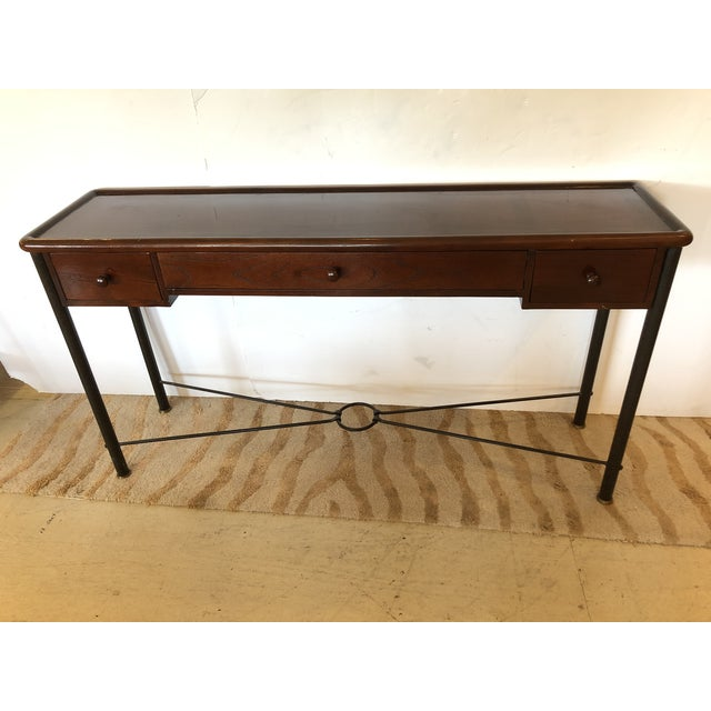Mahogany Console Sofa Table by Grange For Sale - Image 13 of 13