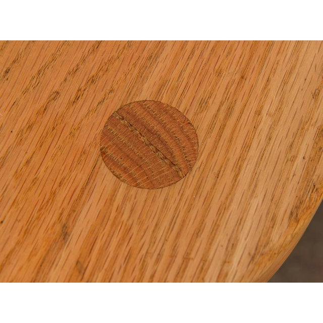 Wood Vintage American Craft Oak Stools For Sale - Image 7 of 7