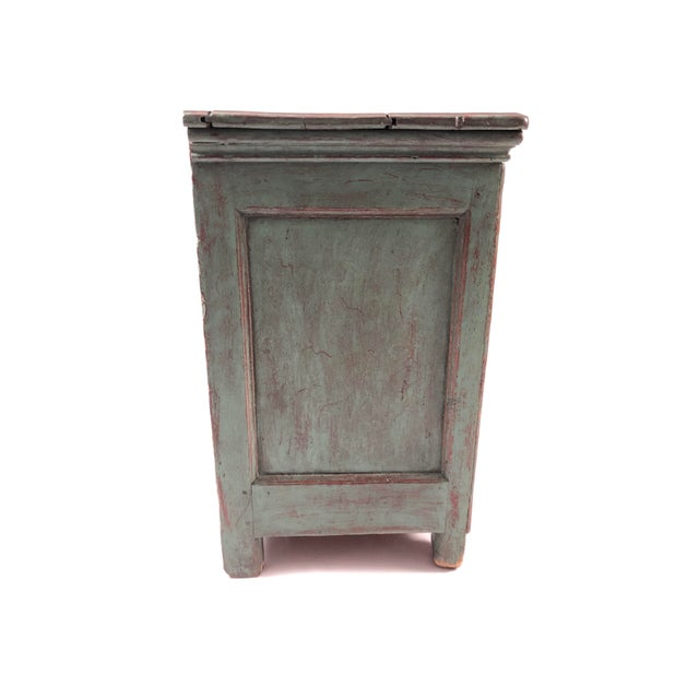 Late 19th Century French Country Canadian Green Painted Side Cabinet For Sale - Image 5 of 13