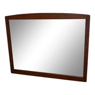 Stickley Mission Oak Wall Hanging Mirror For Sale