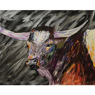 Contemporary Long Horn Painting For Sale