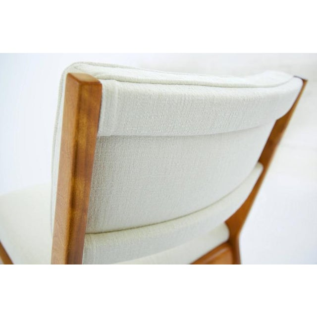 Cherry Wood Risom Armless Lounge Chair For Sale - Image 7 of 10