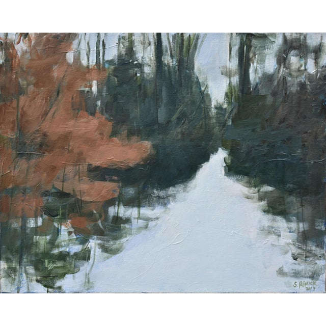 """""""Beech Tree by the Path"""" Contemporary Painting by Stephen Remick For Sale - Image 10 of 10"""