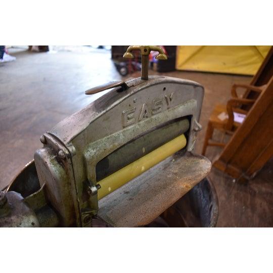 Antique Easy Primitive Copper Wash Tub Wringer Washing Machine For Sale - Image 6 of 7