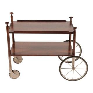 Rare Vintage Wilhelm Renz Rosewood Bar Cart For Sale