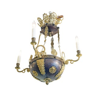 From Gianni Versace Estate Empire Style Chandelier